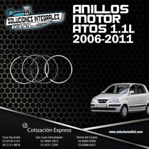 ANILLOS MOTOR ATOS 1.1L 06-11