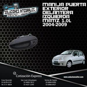 MANIJA PUERTA EXT. DEL. IZQUIERDA MATIZ 1.0L 04/09