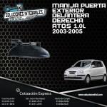 MANIJA PUERTA EXTERIOR DELANTERA DERECHA ATOS 1.0L 03/05