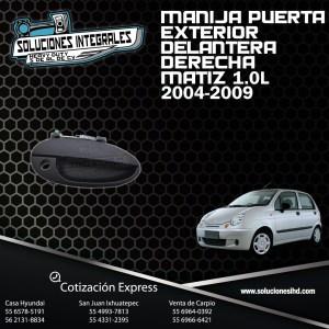 MANIJA PUERTA EXT. DEL. DERECHA MATIZ 1.0L 04/09