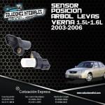 SENSOR POSICION ARBOL LEVAS VERNA 1.5L-1.6L 03/06