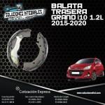 BALATA TRASERA GRAND I10 15-18