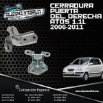CERRADURA PUERTA DEL. DER. ATOS 1.1L 06/11