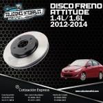 DISCO FRENO ATTITUDE 1.4L/1.6L, 12-14