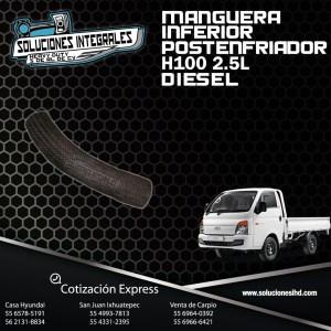 MANGUERA INFERIOR POST ENFRIADOR H100 DIESEL 2.5L