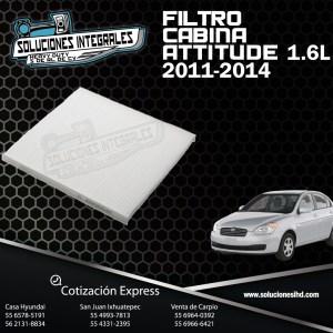 FILTRO CABINA ATTITUDE 1.6L 11/14
