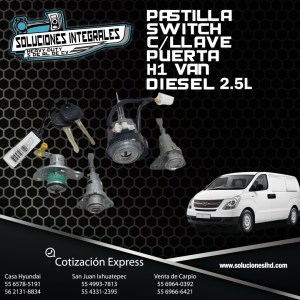 PASTILLA SWITCH C/LLAVE PUERTA H1 VAN DIESEL 2.5L