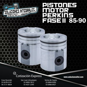 PISTONES MOTOR PERKINS FASE II MODELO 85-90