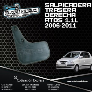 SALPICADERA TRAS DER ATOS 1.1L 06/11