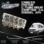 CABEZA MOTOR C/TUBO AGUA CRAFTER 2.0L DIESEL 2014