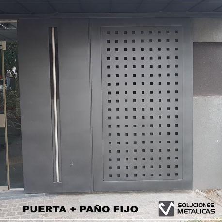 Puerta con paño fijo III