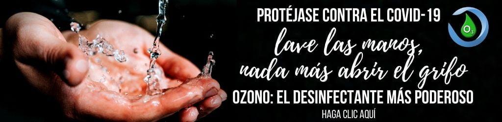 limpieza desinfección manos ozono