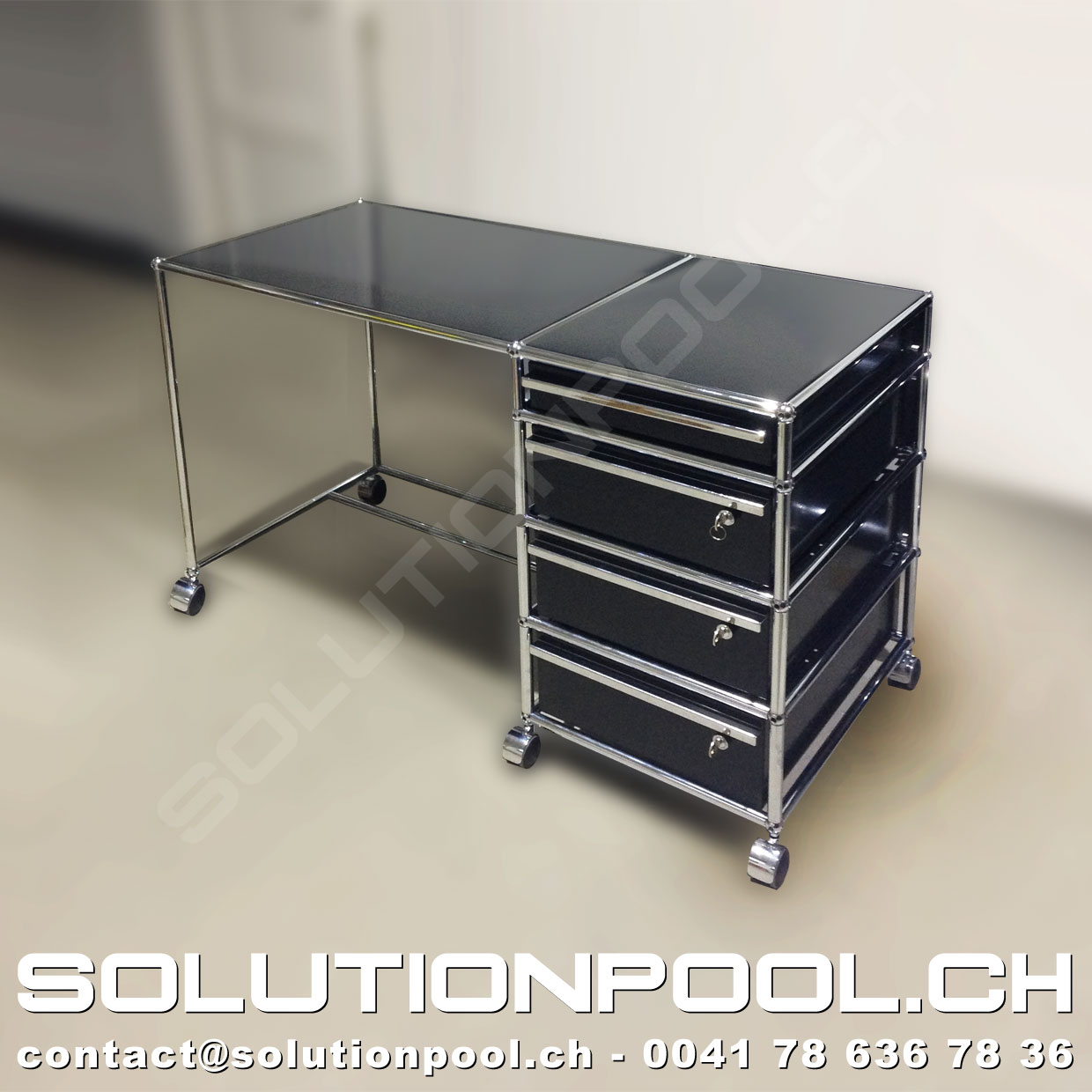 usm tisch archive solutionpool first class second hand for home and office. Black Bedroom Furniture Sets. Home Design Ideas