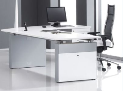 White Desks   White Office Furniture from stock   Solutions 4 Office Exclusive White Desk