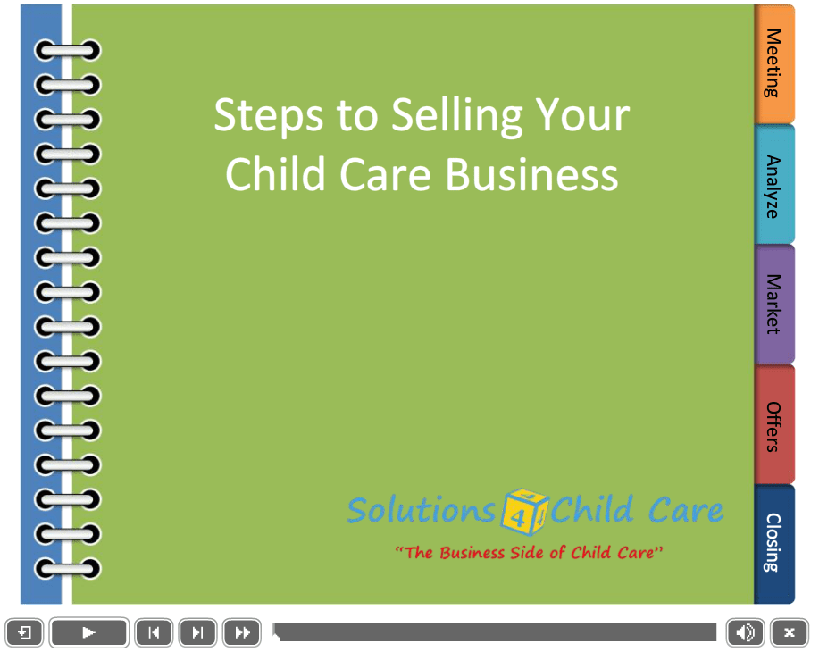 Selling Your Child Care Business