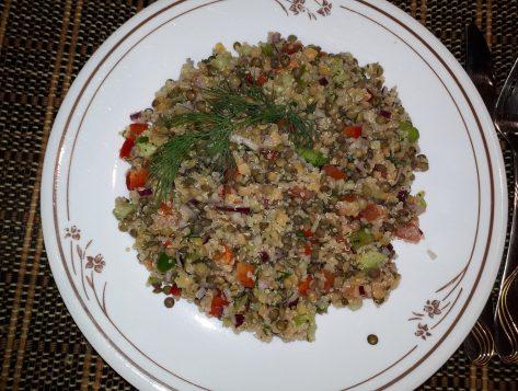 Salade des lentilles au quinoa