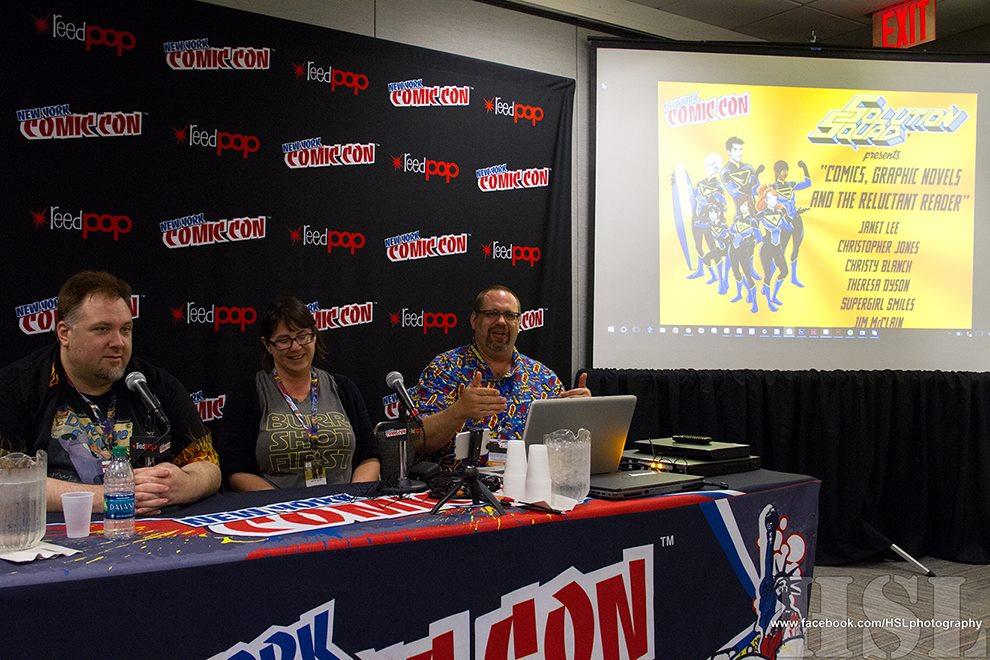 Jim presenting at New York Comic Con, October 2016