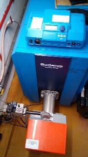 Εγκατάσταση Λεβητοστασίου με αυτοματισμό Buderus και καυστήρα Μικτής