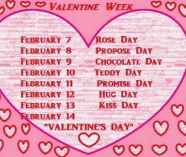 Valentines Day 2018 – Valentine week list 2018 Days