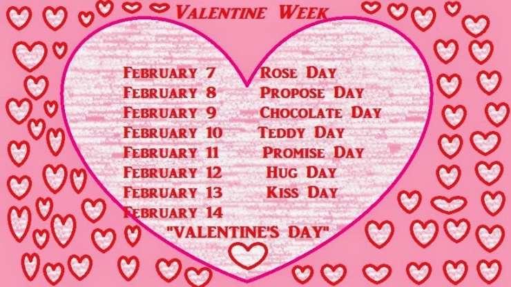 Valentines Day 2018 - Valentine week list 2018 Days - SolutionWeb