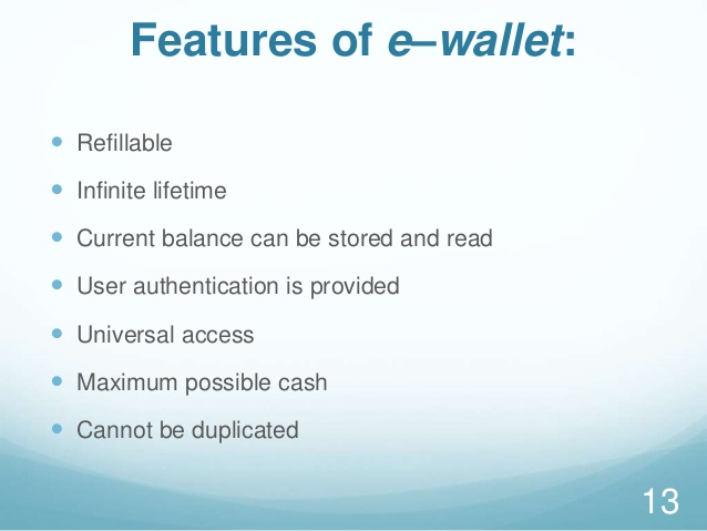 features of electronic wallet
