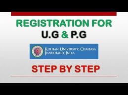 kolhan university notification for filling up offline registration form of U.G & P.G part 1