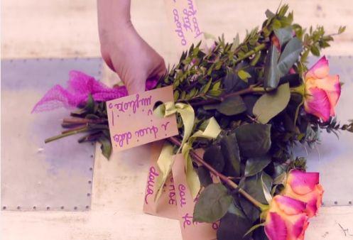 Mazzo di fiori personalizzato
