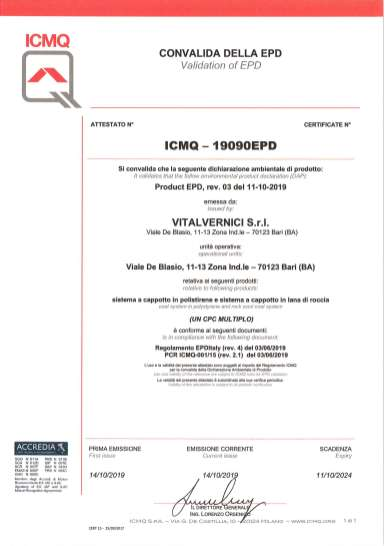 Sistema cappotto certificati ICMQ