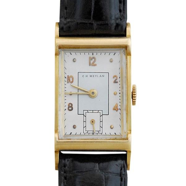 Rectangle Case Mens Wrist Watch by C H Meylan