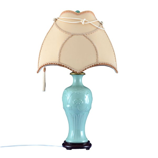 Celadon table lamp