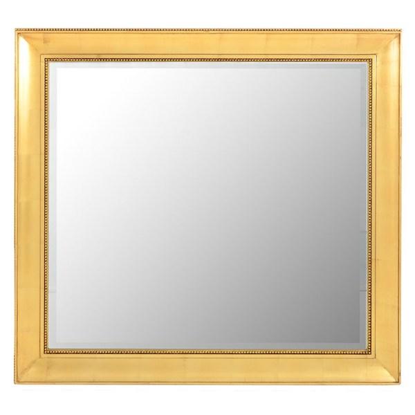Large Rectangular Mirror in a Carved Gilt Frame