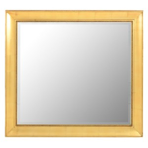 Large Rectangular Mirror in a Carved Gilt Frame