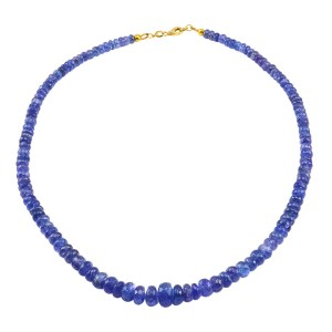 Beaded Faceted Tanzanite Necklace