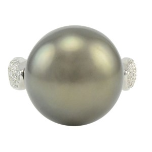 Platinum Natural South Seas Pearl Ring