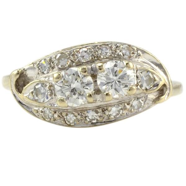 0.70 Carat Total Weight Diamond Ring