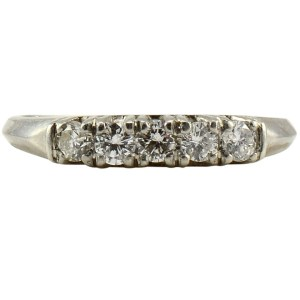 Platinum Five Diamond Ring