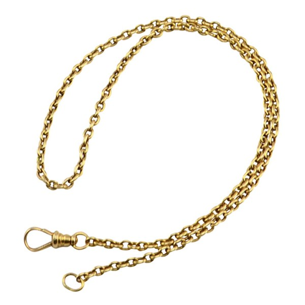 Open Link Design 14 Karat Gold Watch Chain