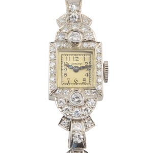 Platinum Diamond Ladies Wrist Watch by Hamilton