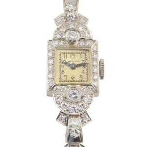 Platinum Diamond Ladies Wrist Watch by Hamilton