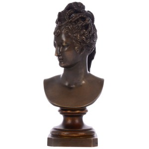 Bronze Woman Bust Sculpture