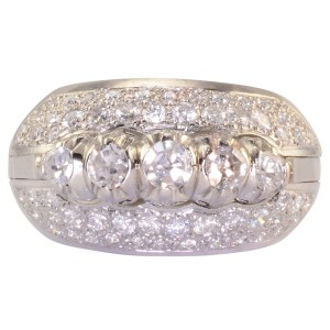 1.95 CTW Diamond Platinum Ring