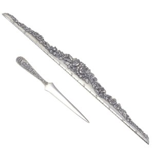 Kirk & Son Sterling Silver Ruler and Letter Opener