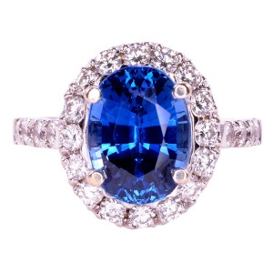 untreated sapphire and diamond ring