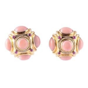 coral ruby earrings