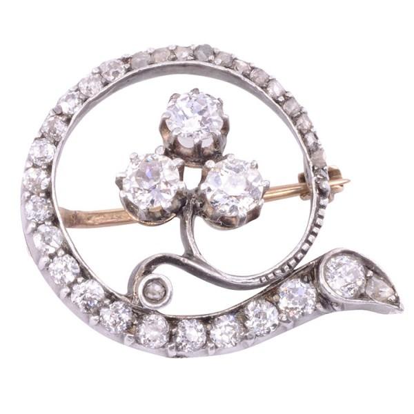 Old English diamond pin