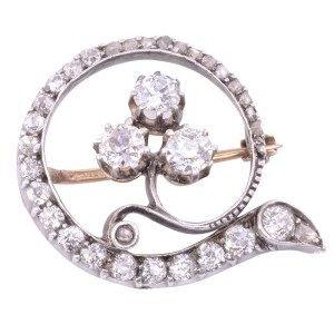Old English diamond pin