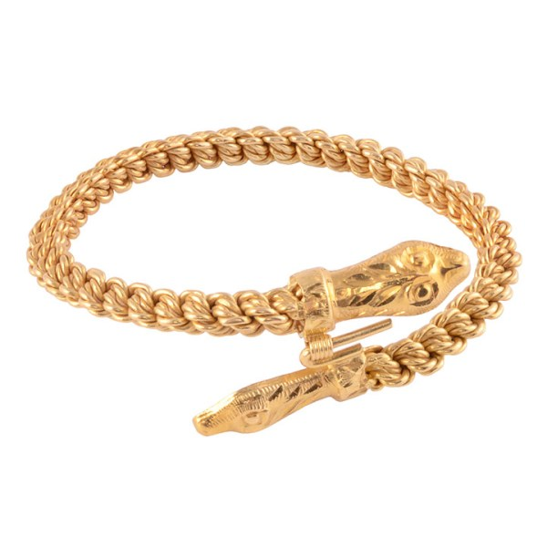 22K snake bracelet