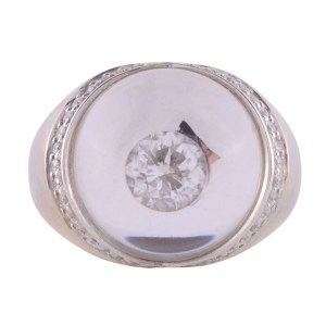 glass dome diamond ring