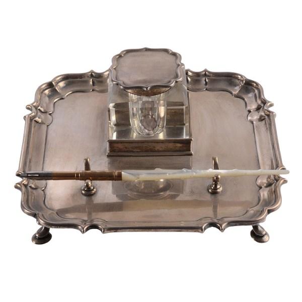 silver pen tray