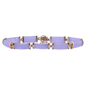Lavender Jadeite Bar Link Bracelet